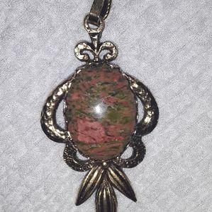 Antique Stone Rock Necklace